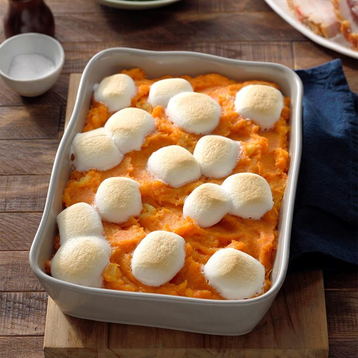 Pineapple Sweet Potato Casserole with Marshmallows