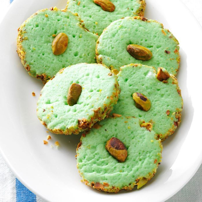 Pistachio Cream Cheese Cookies