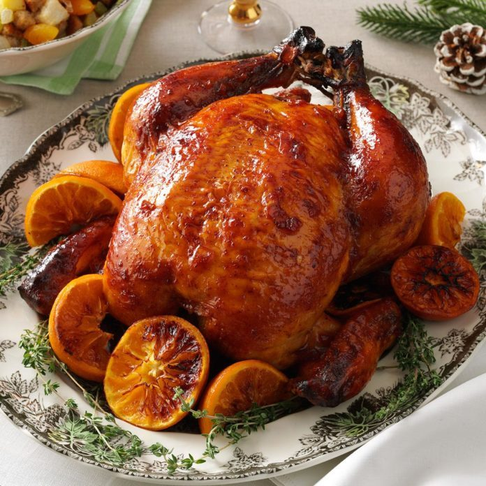 Plum-Glazed Roast Chicken