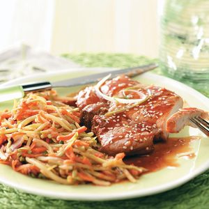 Plum-Good Pork Chops