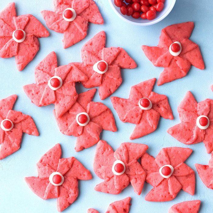 Aries: Poinsettia Pinwheel Cookies