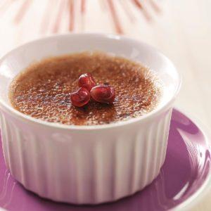 Pomegranate Creme Brulee
