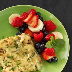 Poppy Seed Fruit Salad with Honey Sauce