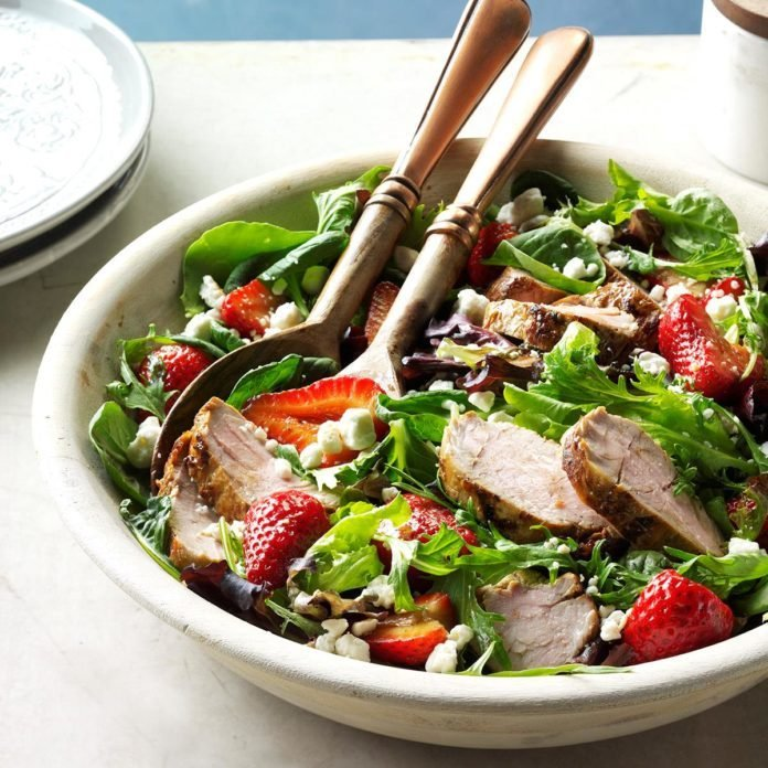 Day 3: Pork and Balsamic Strawberry Salad