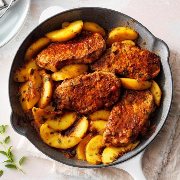 Pork Chops With Nectarine Salsa