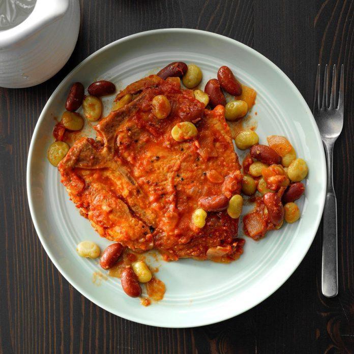 Pork Chops and Beans