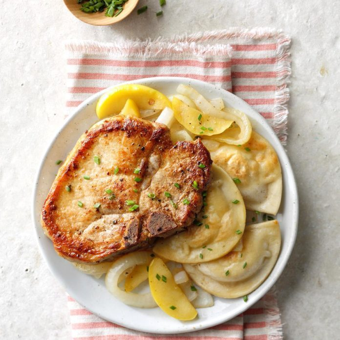 Pork Chops and Pierogies