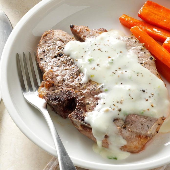 Pork Chops With Blue Cheese Sauce Exps41589 Sd143204b12 10 4bc Rms 4