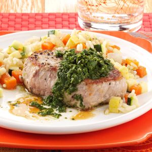 Pork Chops with Chimichurri