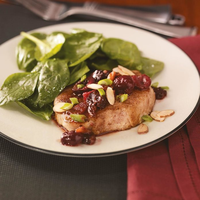 Pork Chops with Chipotle Cherry Glaze