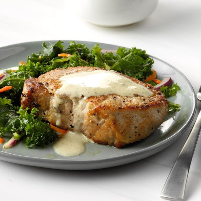 Day 24: Pork Chops with Dijon Sauce