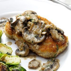 Pork Chops with Mushroom Bourbon Sauce