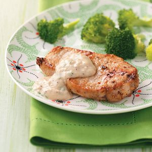 Pork Chops with Parmesan Sauce for Two