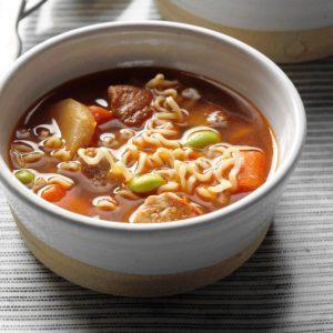 Pork Edamame Soup