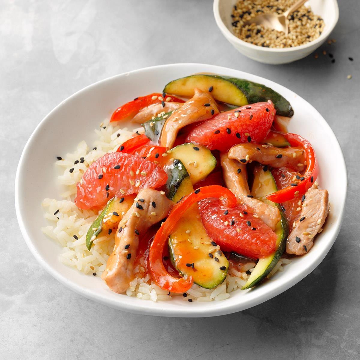 Pork Grapefruit Stir-Fry Recipe