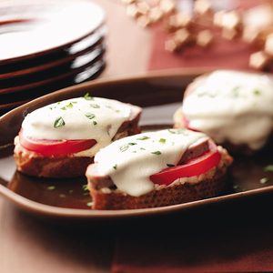 Pork & Mozzarella Crostini