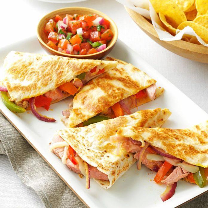 Pork Quesadillas with Fresh Salsa