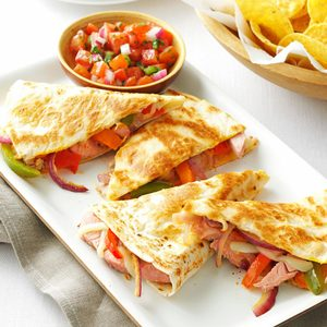 Pork Quesadillas with Fresh Salsa
