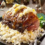 Pork Roast with Apricot-Rice Stuffing