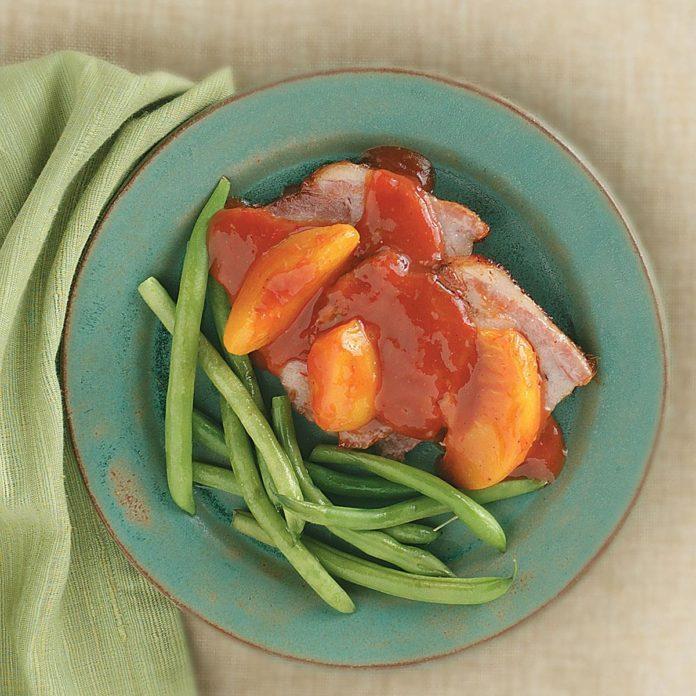 Pork Roast with Peach Sauce