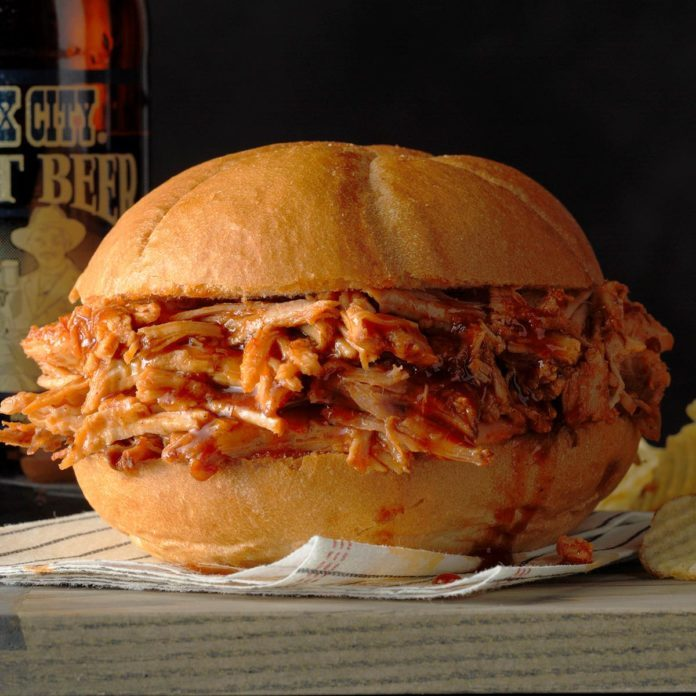Pork Sandwiches with Root Beer Barbecue Sauce