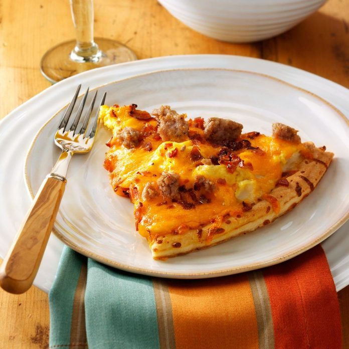 Pork Sausage Brunch Pizza