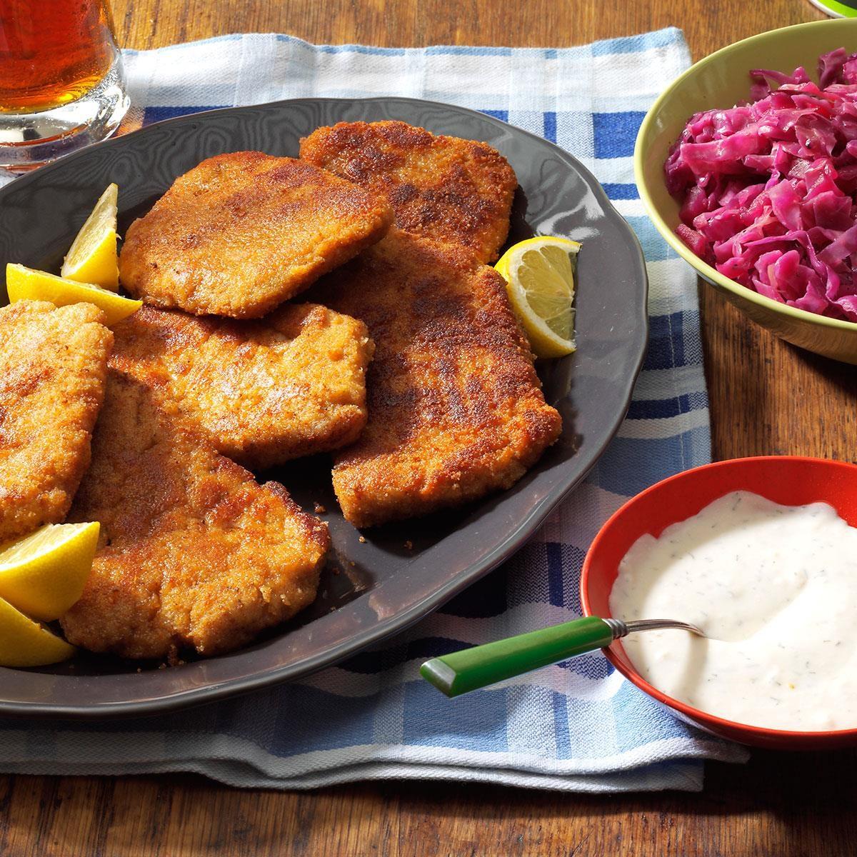 Friday: Pork Schnitzel with Dill Sauce