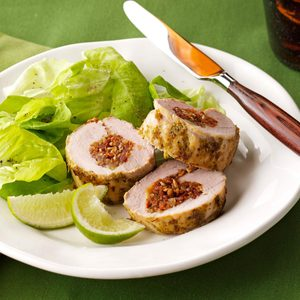 Pork Tenderloin with Cilantro-Lime Pesto
