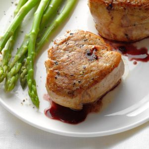Pork Tenderloin with Wine Sauce