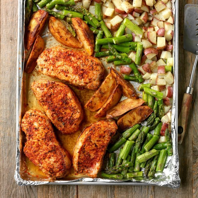 Wednesday: Pork and Asparagus Sheet-Pan Dinner
