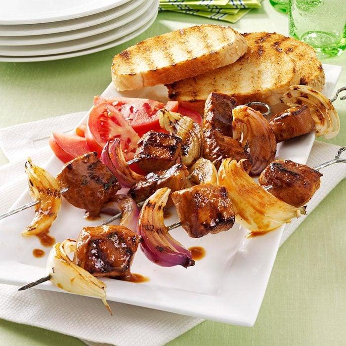 Pork and Onion Kabobs