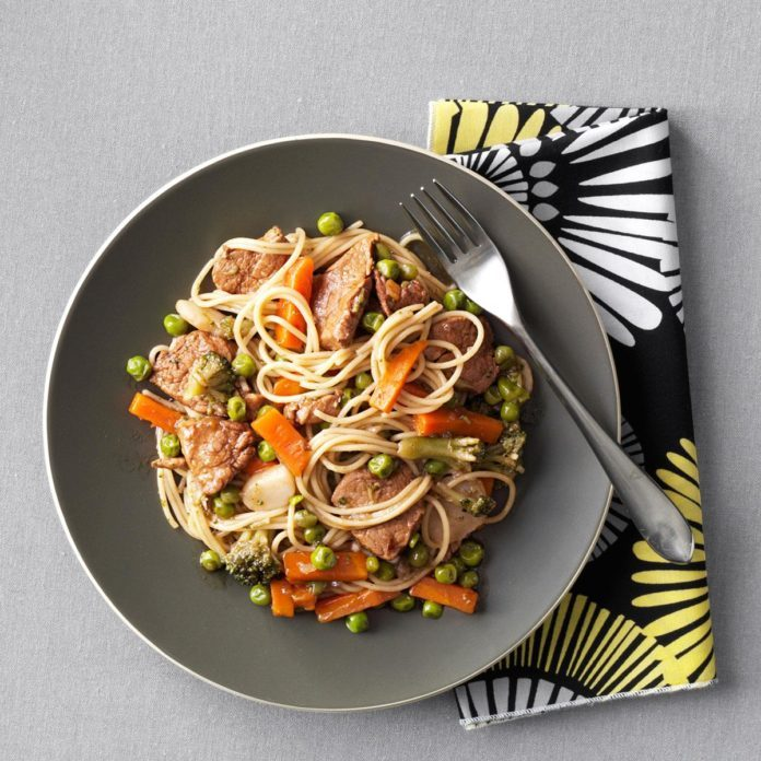 Pork and Vegetable Lo Mein