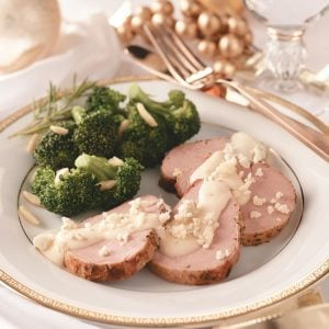 Pork with Gorgonzola Sauce