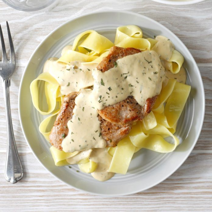 Pork with Mustard Sauce