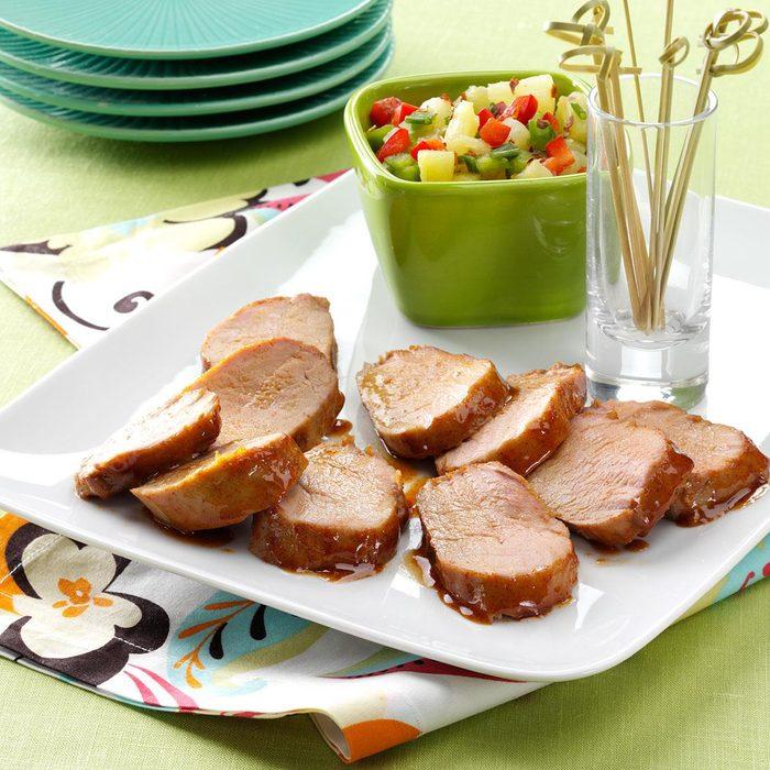 Pork with Pineapple Salsa