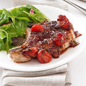 Pork with Strawberry-Port Sauce