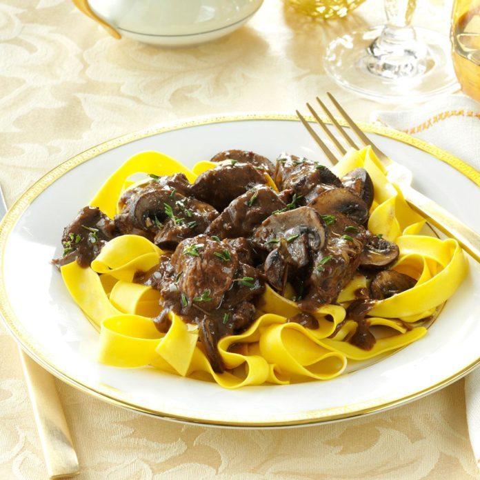 Portobello Beef Burgundy