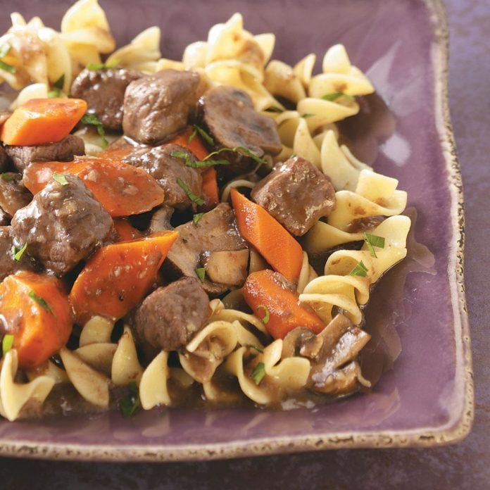 Portobello Burgundy Beef