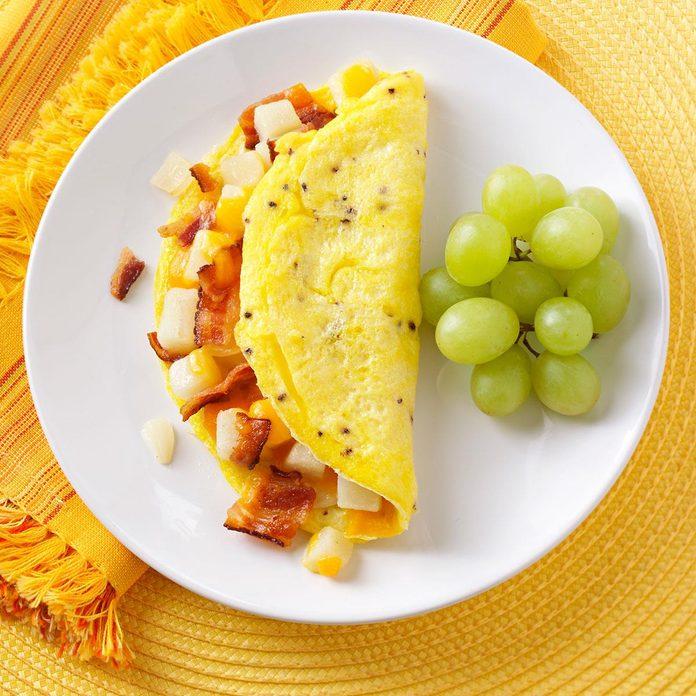 Potato Bacon Omelet