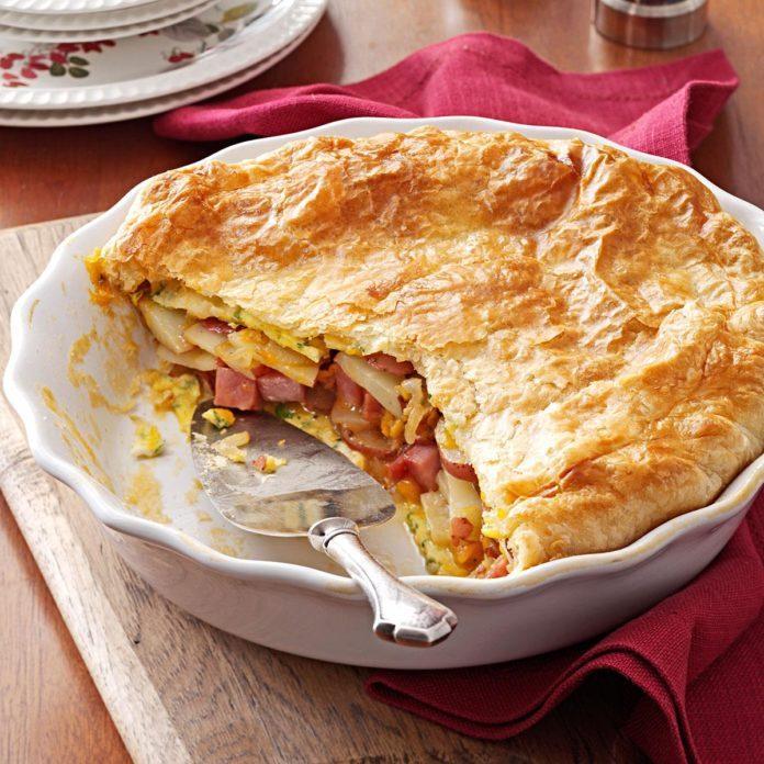 Potato Ham Omelet Pie