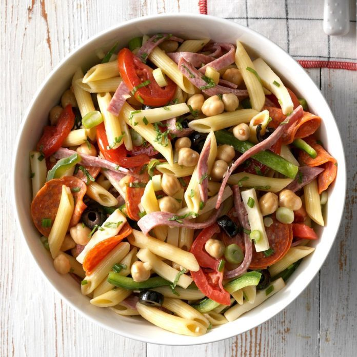 Sports Fanatic Lunch: Antipasto Pasta Salad