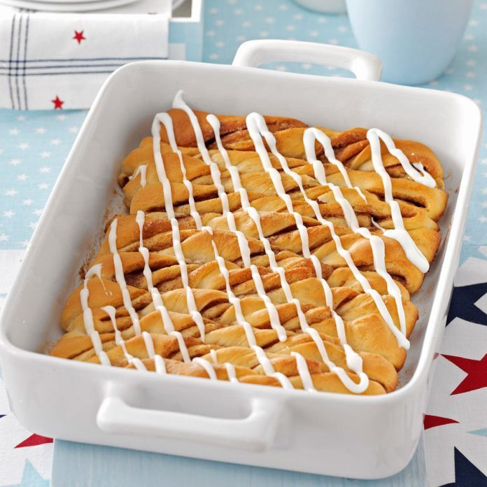 Potluck Cinnamon Roll Twists