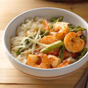 Pressure Cooker Risotto with Shrimp and Asparagus