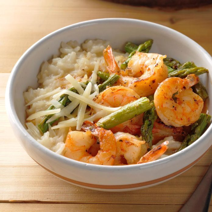 Saturday: Pressure-Cooker Risotto with Shrimp and Asparagus