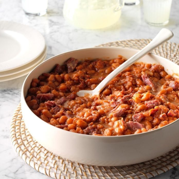 Pressure Cooker BBQ Baked Beans