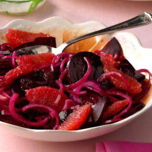 Pressure-Cooker Beet, Grapefruit & Onion Salad