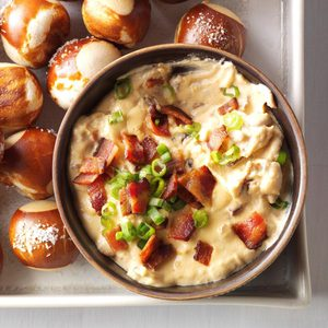Pressure Cooker Cheddar Bacon Ale Dip