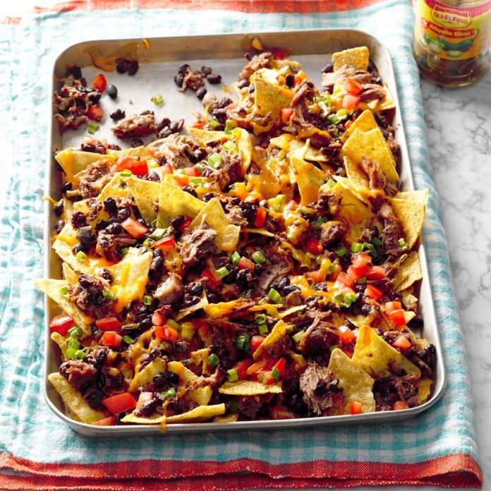 Instant Pot Hearty Pork & Black Bean Nachos