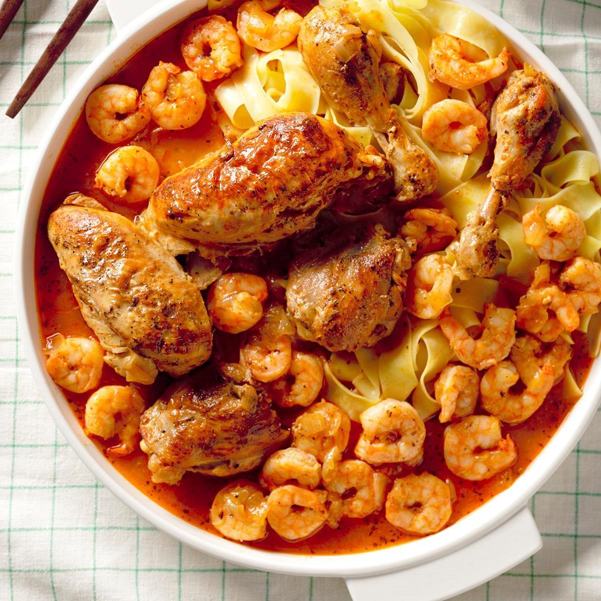 Pressure Cooker Herbed Chicken and Shrimp