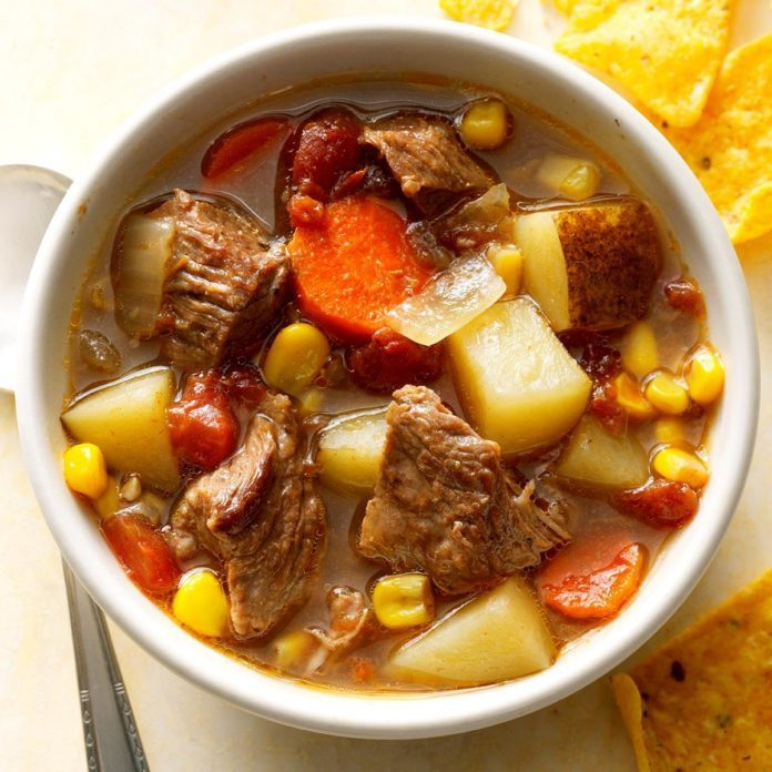 Pressure-Cooker Mexican Beef Soup